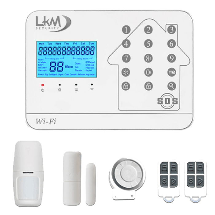 Atena Allarme casa Wireless LKM Security GSM WiFi PSTN gestione da remoto con sensori wireless 433Mhz