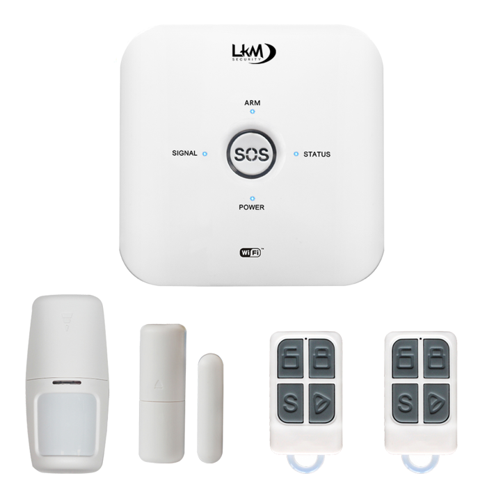 Allarme May Antifurto casa Wireless LKM Security GSM WiFi compatibile con Tuya gestione da remoto